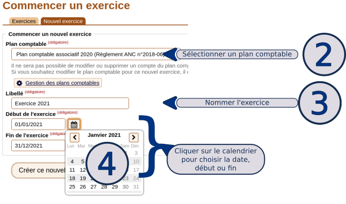 Commencer l'exercice